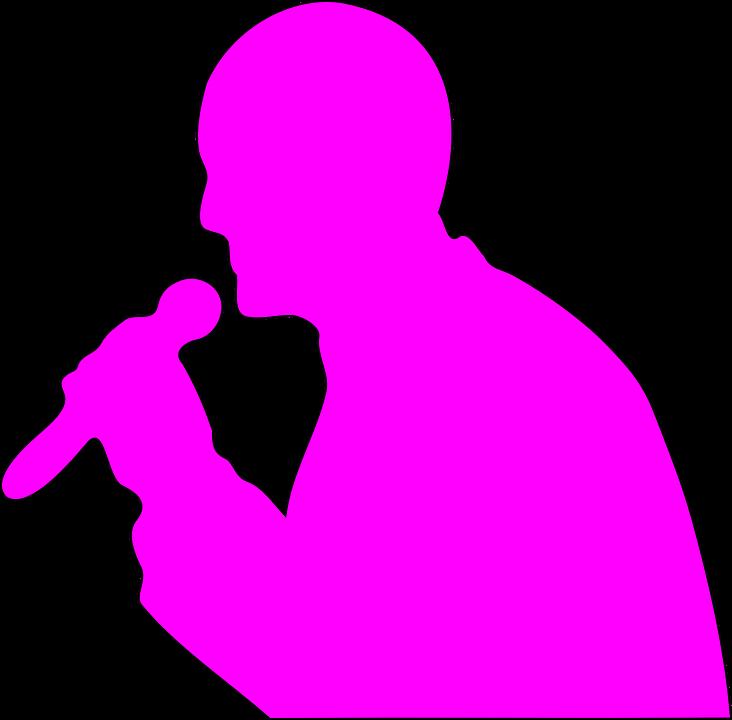 Man, Addresssing, Microphone, Mic, Cordless, Pink