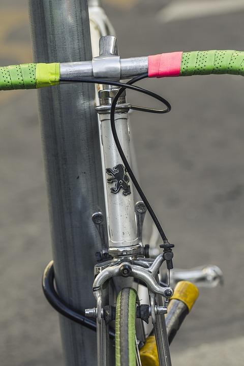 Free photo Pink Peugeot Vintage Old Retro Bicycle Green - Max Pixel