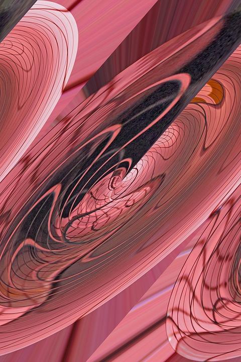 Pink, Grid, Abstract, Pop Art, Modern, Roundabout
