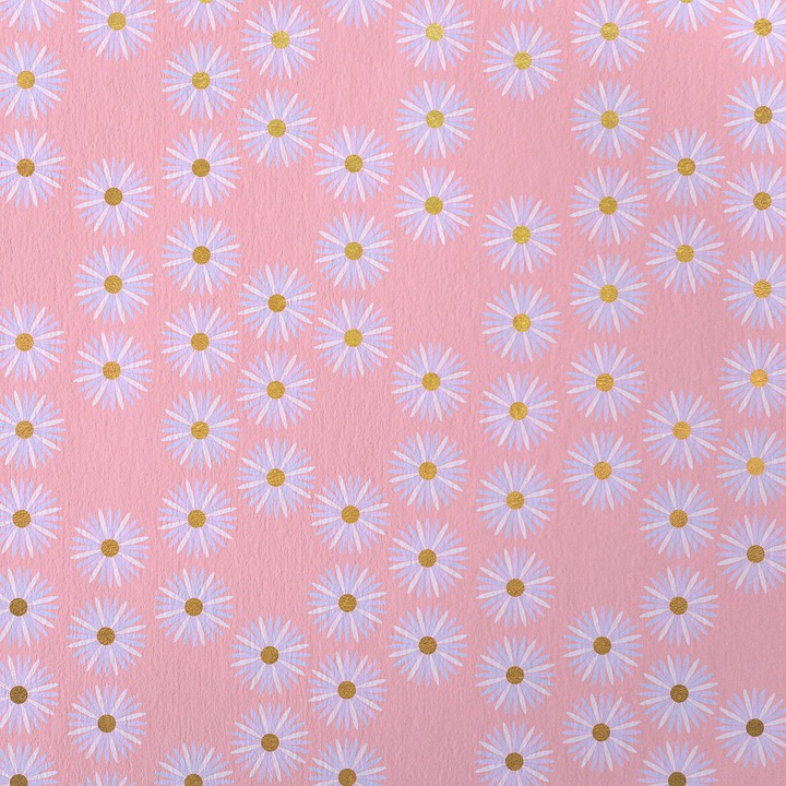 Flowers, Pattern, Pink, Background, Scrapbooking