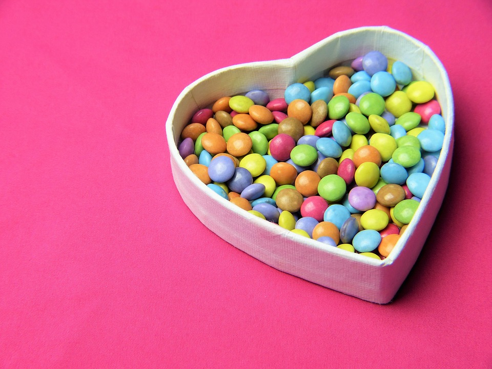 Heart, Smarties, Pink, Sweetness, Invitation, Love
