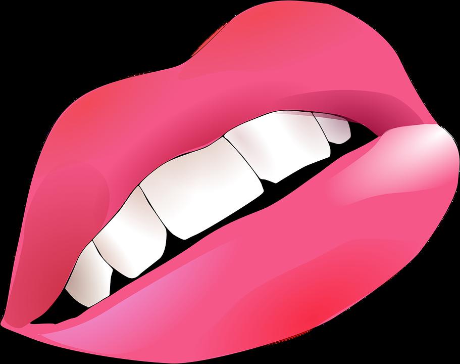 Lips, Pink, Smiley, Mouth, Teeth, Human, Body, Girl
