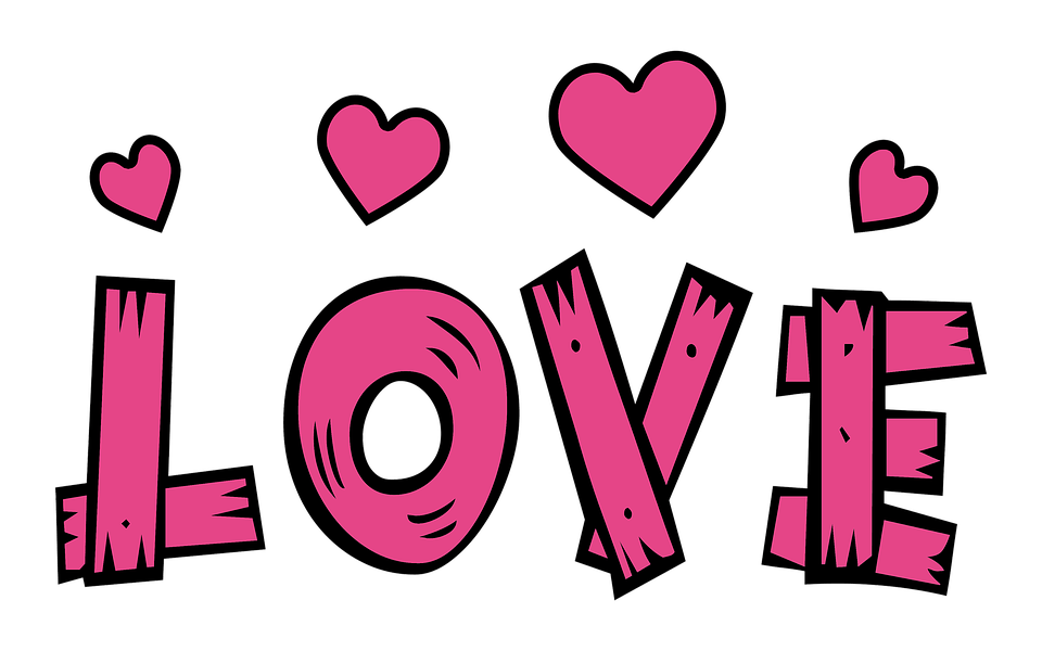 Free photo Pink Text Love Heart Valentine Hearts Love - Max Pixel