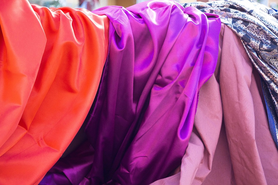 Silk, Noble, Towels, Orange, Violet, Pink, Fabric