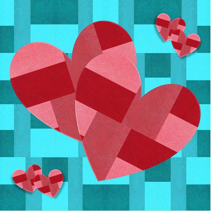 Valentine, Love, Hearts, Leather, Fabric, Pink