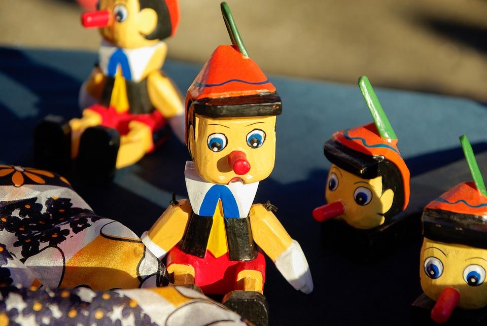 Pinocchio, Figurines, Wood, Conte