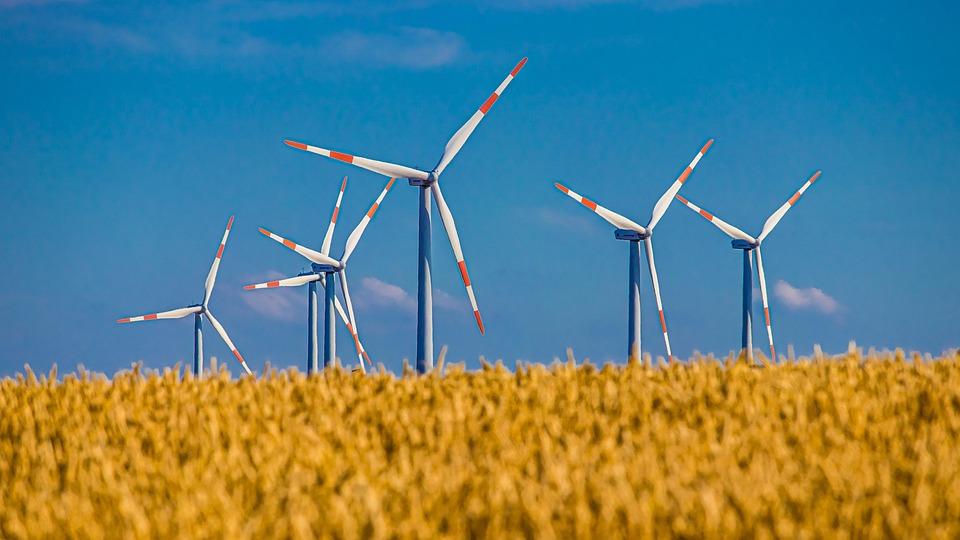 Pinwheel, Field, Cereals, Sky, Wind Energy, Wind Power