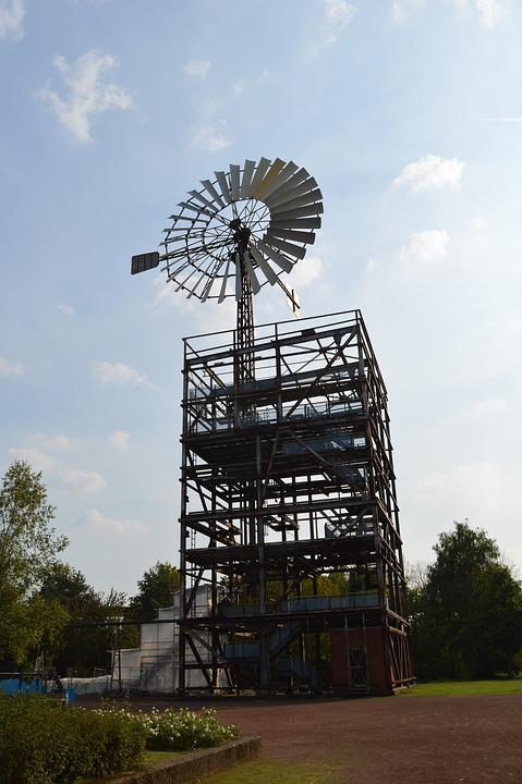 Industrial Monument, Pinwheel, Landscape Park, Sky