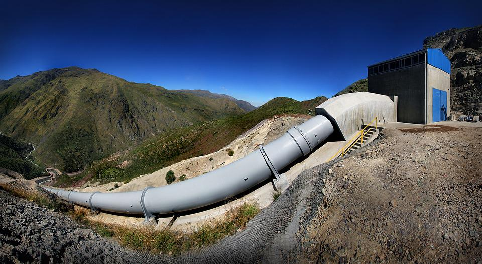Pipe, Hydroelectric Power Station, Huanza, Peru