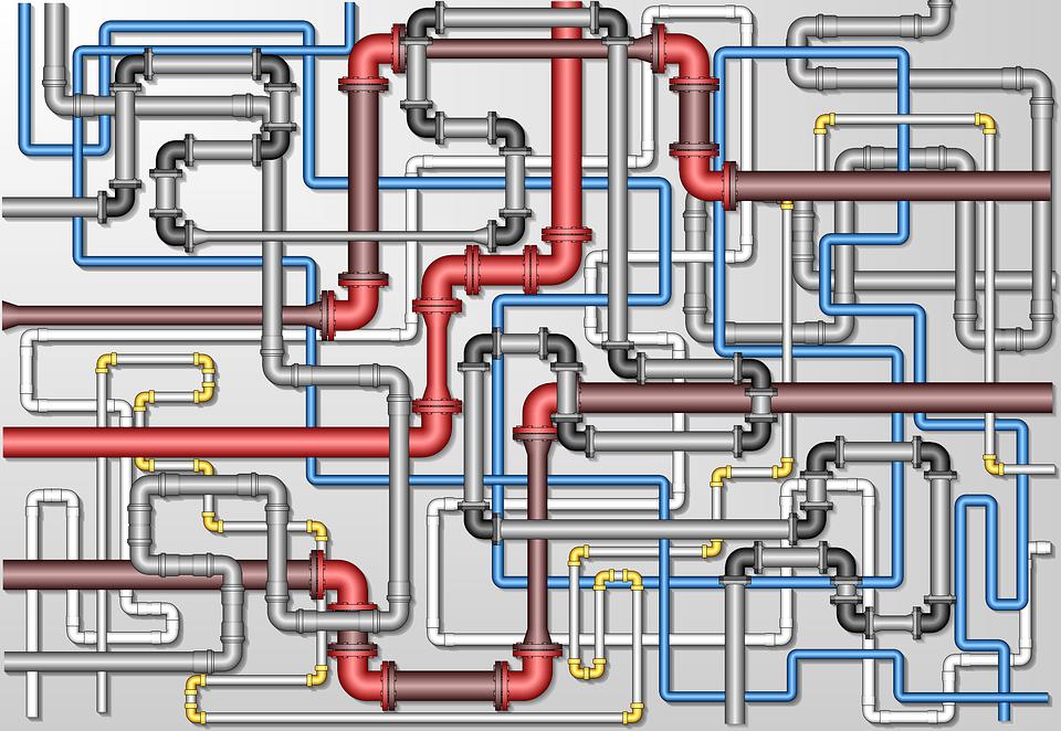 Pipeline, Flange, Template, Industrial
