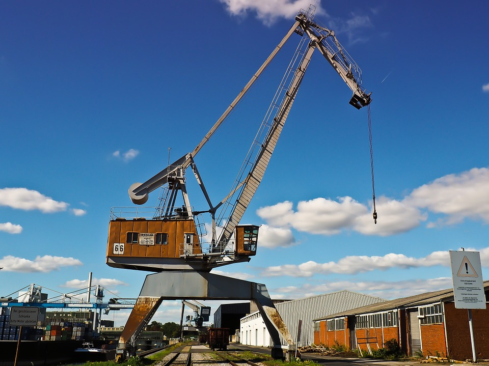 Crane, Pipes, Lifting Crane, Loads, Cargo