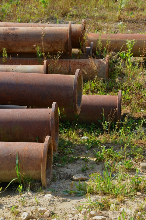 Pipes, Meadow, Old, Stainless, Iron, Nature