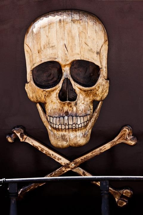 Horror, Pirate, Death, Bone, Sign, Dead, Skeleton, Head