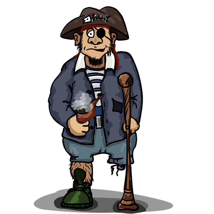 Pirate, One-eyed, One-legged, The Three-cornered Hat