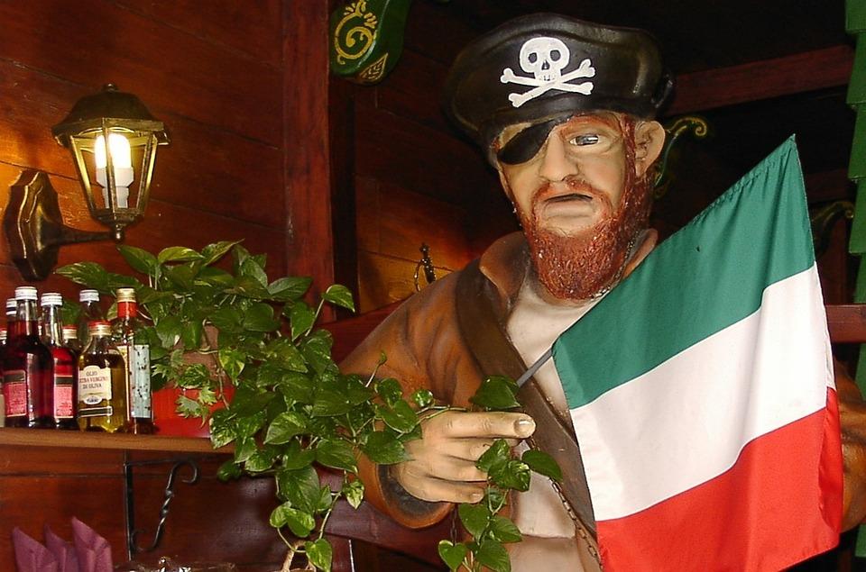 Italy, Pirate, Sculpture, Corsair