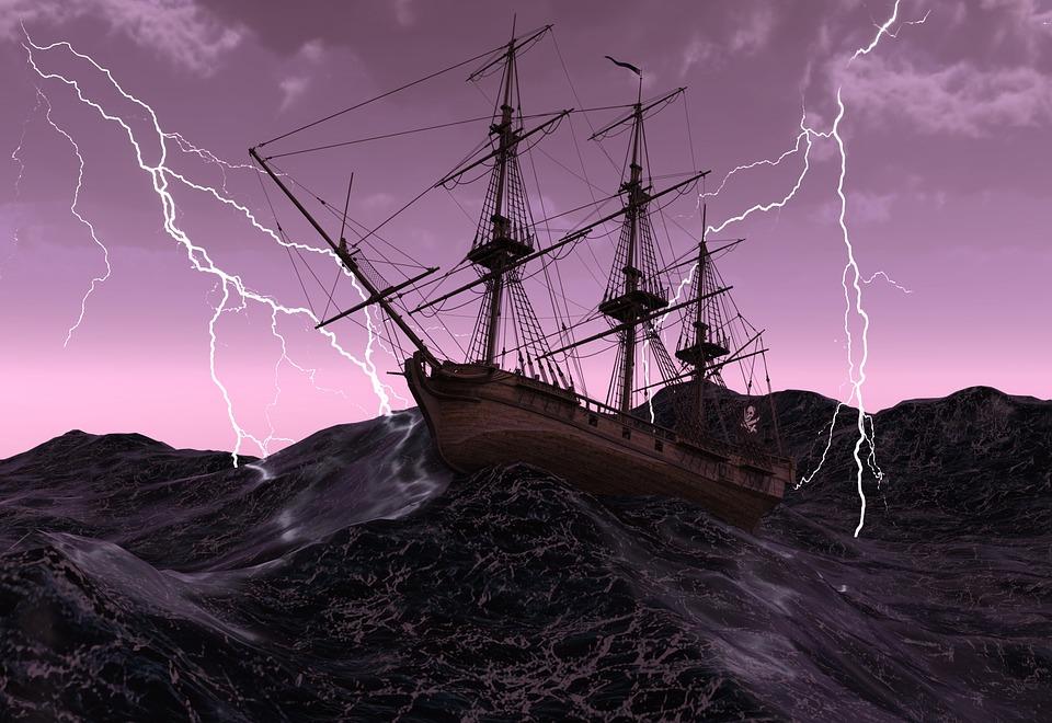 Ship, Sailing Vessel, Old, Pirate Ship, Pirates