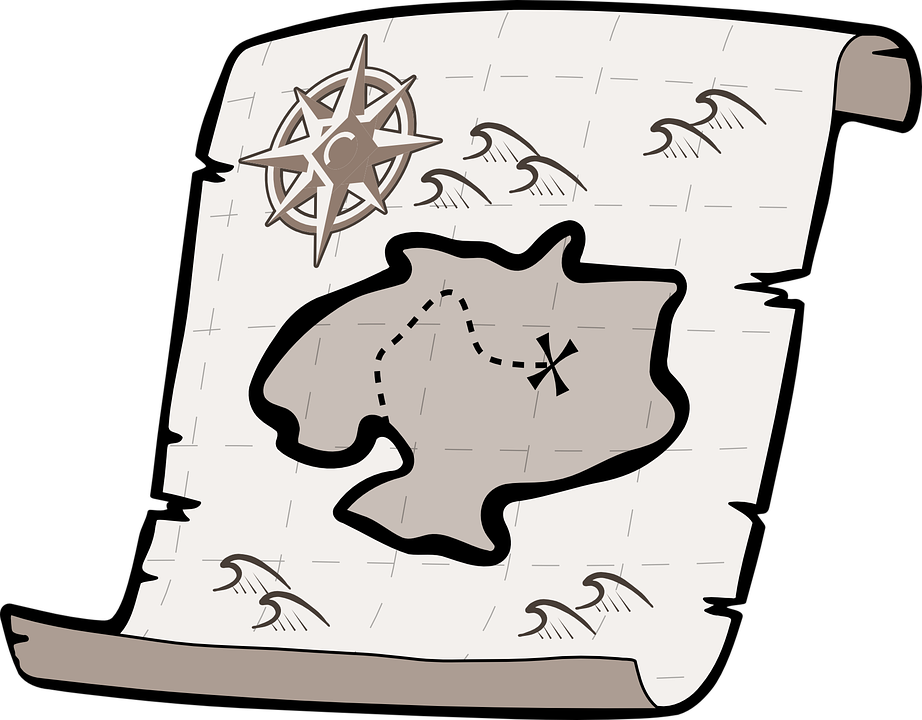 Treasure Map, Treasure Hunt, Pirate Treasure, Map