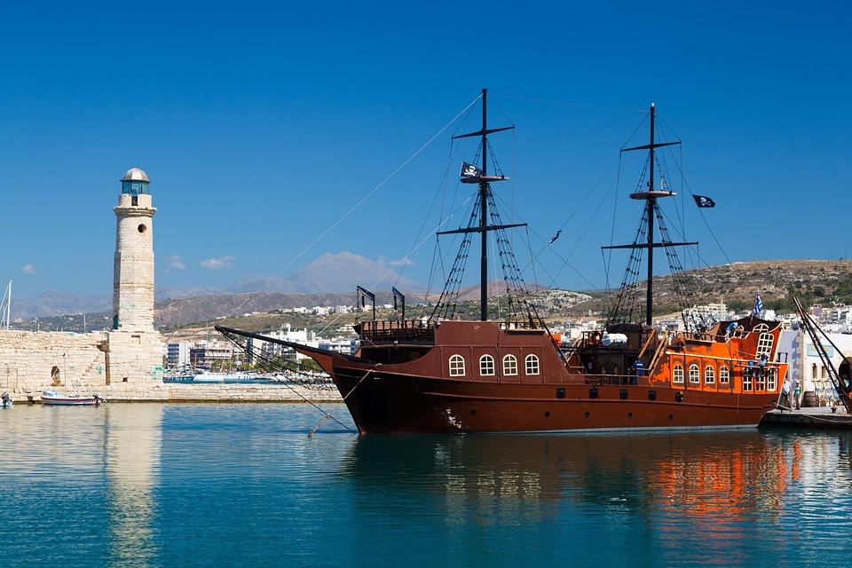 Harbor, Ship, Sea, Mast, Water, Pirate, Boat, Sailboat