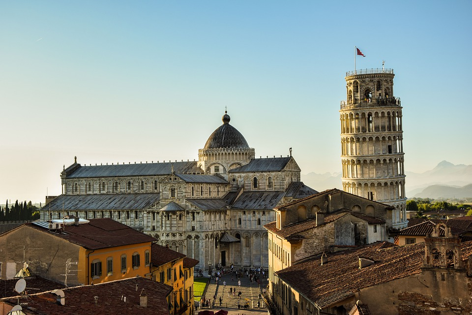 Pisa, Leaning Tower, Abendstimmung, Roofs, Landmark