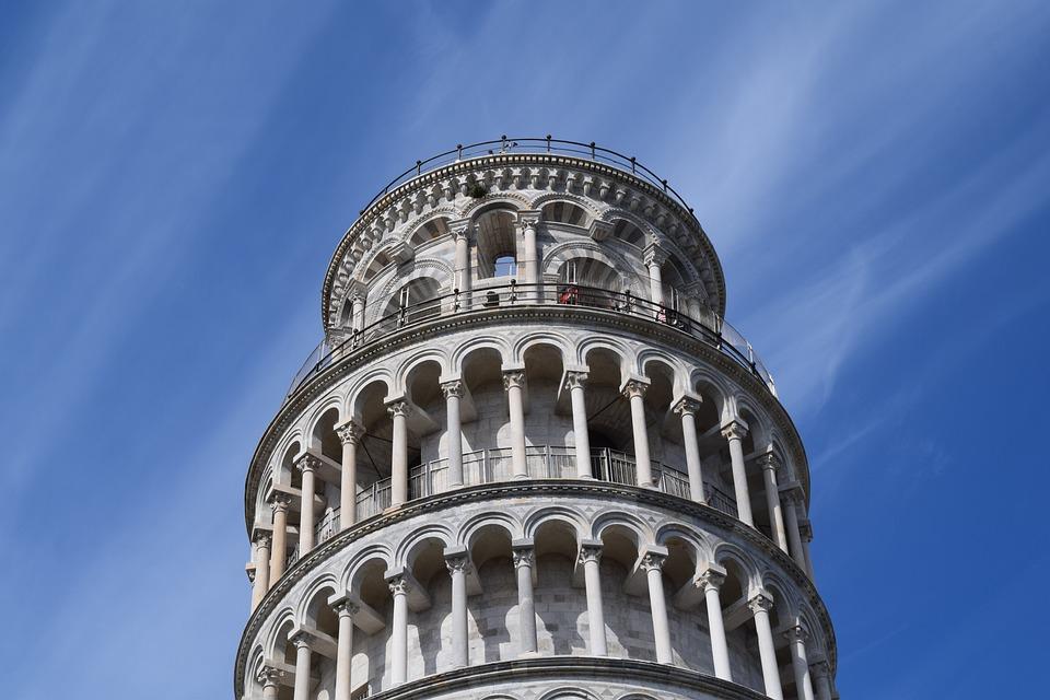 Pisa, Tower, Sky, Climbs, Florence, Torre