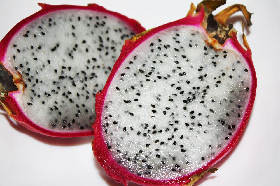 Exotic Fruit, Pitaya, Dragon, Pitahaya, Tropical, Fresh