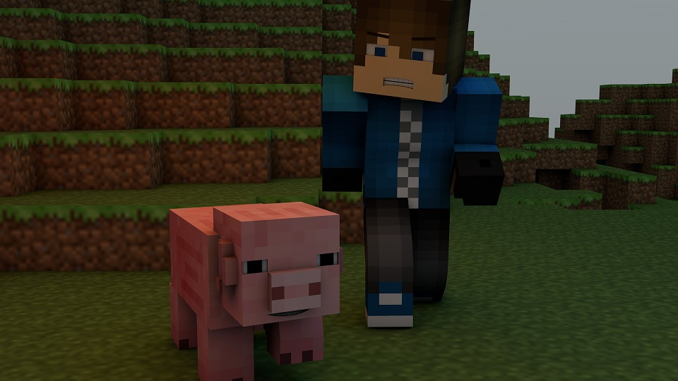 Minecraft, Video Game, Pig, Pixels, Blocks, Game, Pixel