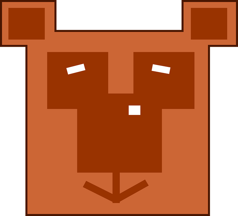 Bear, Pixelated, Pixels, Computer Game, Teddy Bear