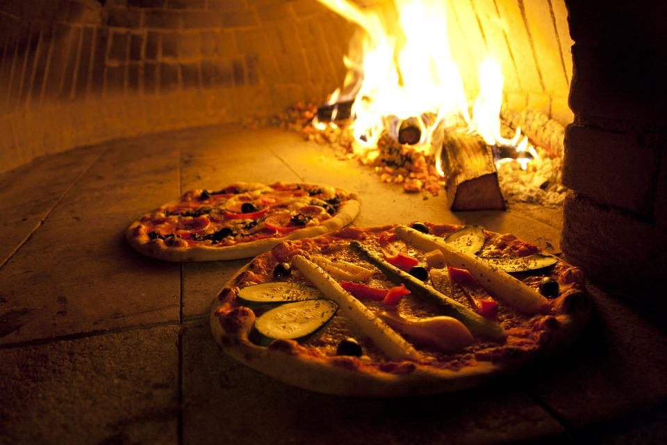 Pizza, Oven, Wood Burning Stove, Wood, Fire, Heat