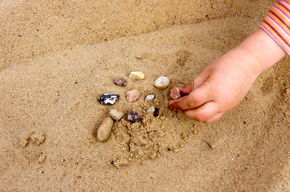 Sand, Summer, Hand, Child, Stones, Place, Warm, Play