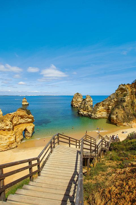Lagos, Algarve, Portugal, City, Place, Bay, Blue