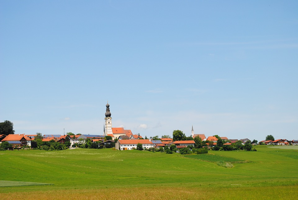 Village, Upper Bavaria, Meadow, Place, Bavaria