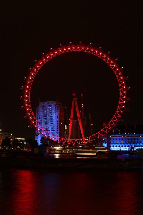 London, London Eye, Ferris Wheel, Places Of Interest