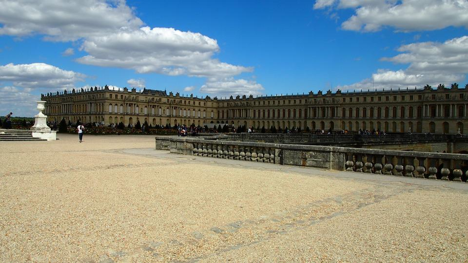 Versailles, Castle, Paris, Places Of Interest, Sky