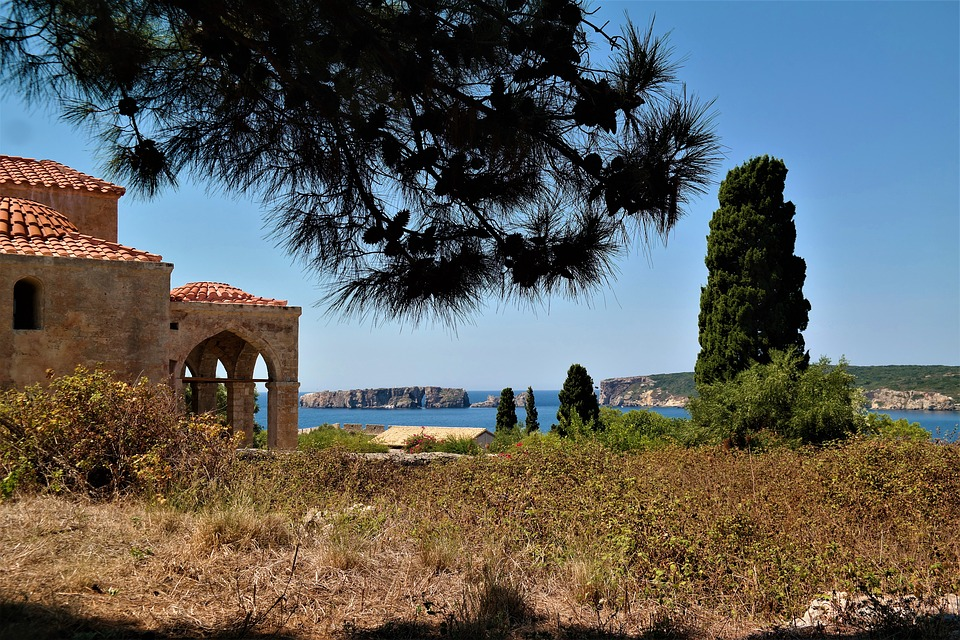 Church, Sea View, Places Of Interest, Castle, Greece