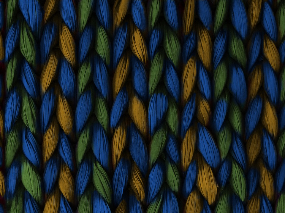 Background, Weave, Plait, Blue, Yellow, Green, Texture
