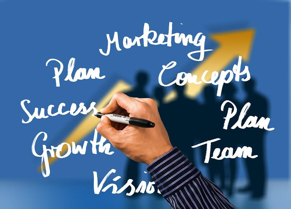 Business, Hand, Write, Success, Arrow, Marketing, Plan