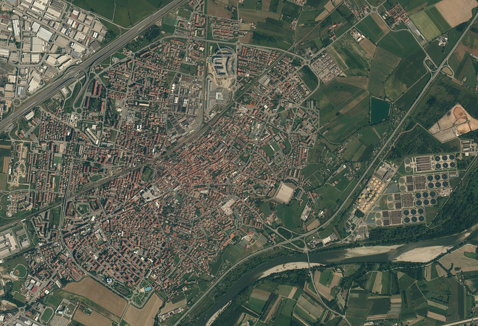 Satellite Photos, Small City, Old Town, Plan, Layout