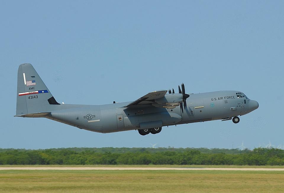 C-130j Super Hercules, Air Force, Cargo, Plane