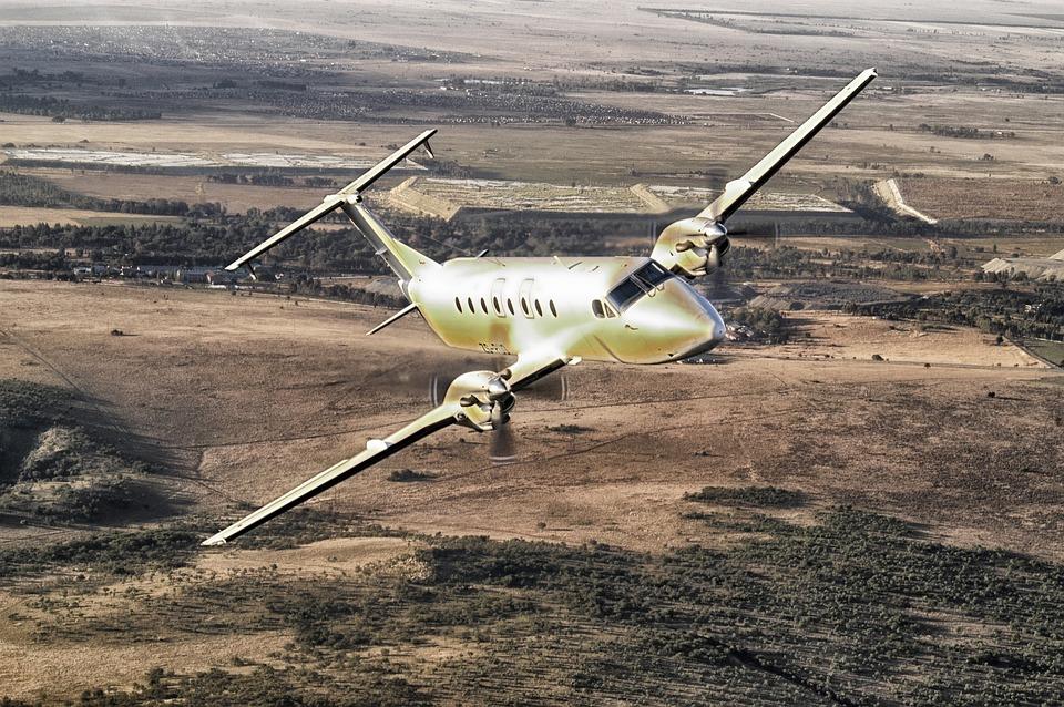 Cemair Beech 1900, Plane, Airplane, Flying, Flight