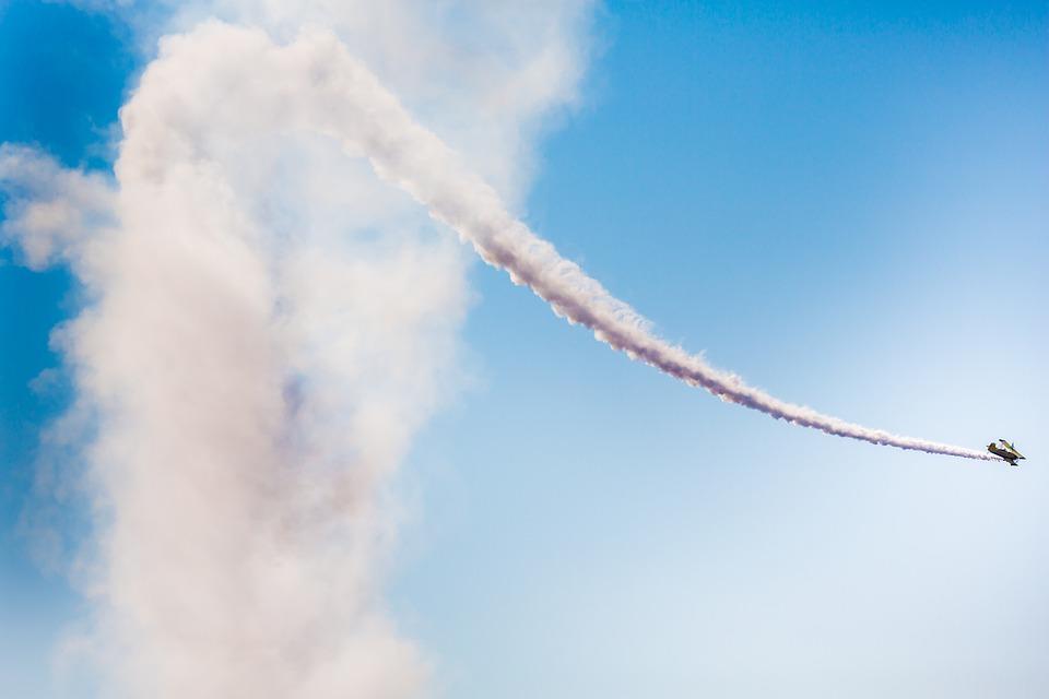 Aerobatic, Plane, Smoke, Cloud, Sky, Flight, Stunts