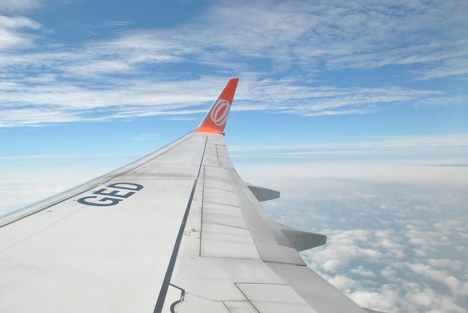 Clouds, Wing, Plane, Travel