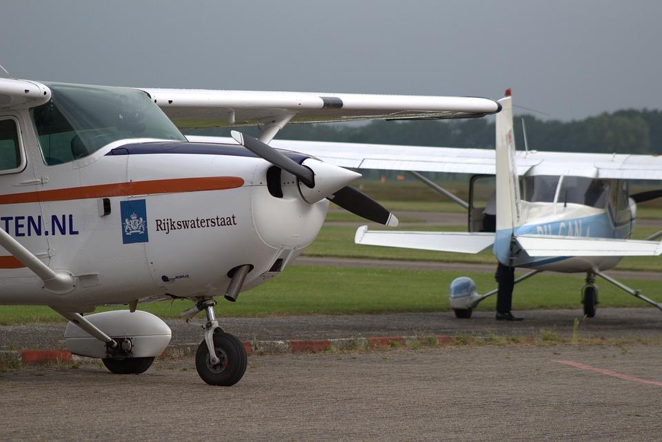 Airplane, Plane Small, Field, Ground