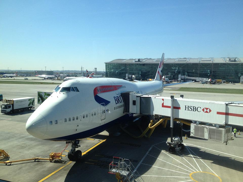 Plane, Airport, British Airways, Airplane, Travel