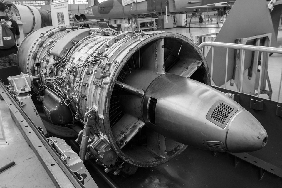 Turbine, Plane, Maintenance, Motor