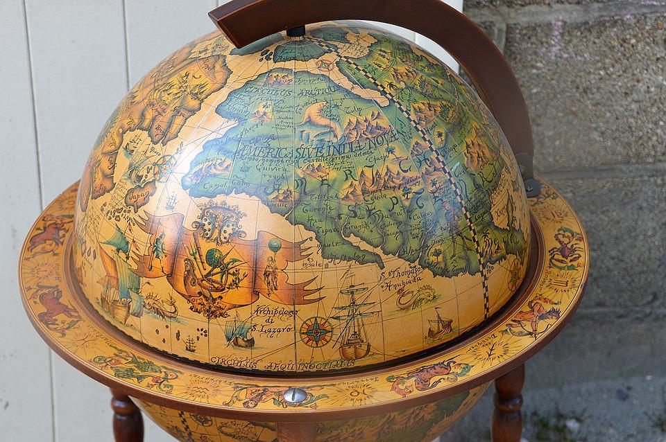 Planet, World Map, World Globe Bar, Earth, Globe, Map