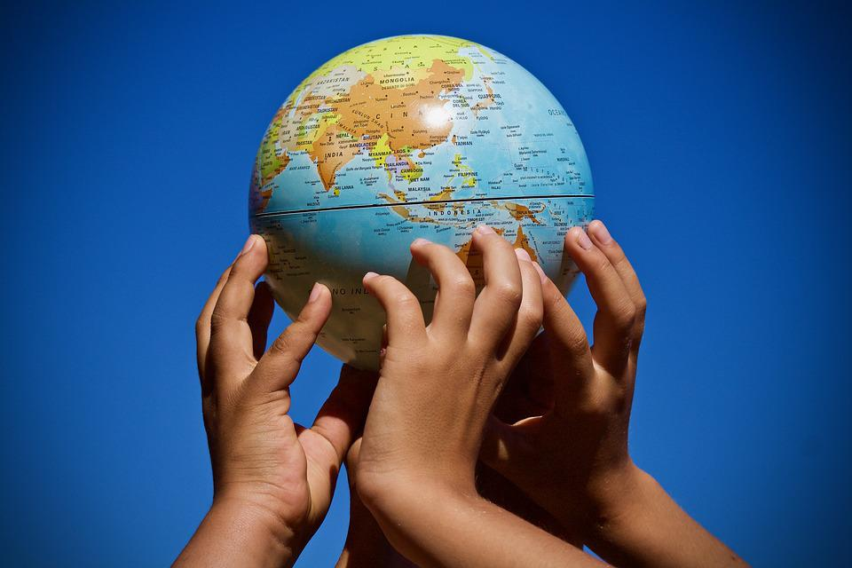 World Map On Hands.Free Photo Planet Map Hands Union Map Of The World Continents Max