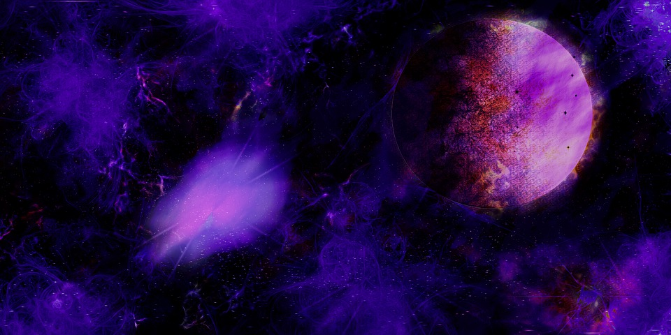Planet, Astronomy, Space, Galaxy, Moon, Background