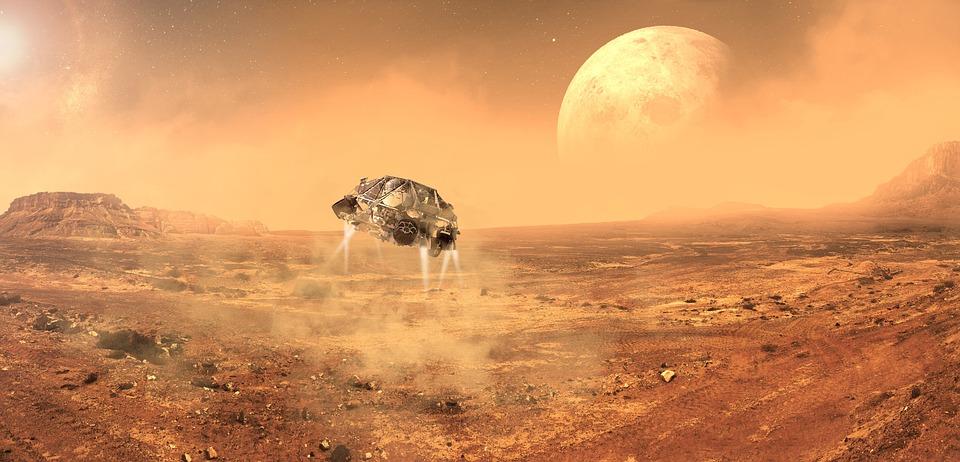 Mars, Space, Planet, Fantasy, Nasa, Satellite, Sun