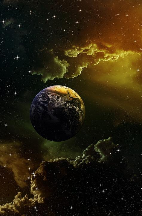 Space Sky Fantasy Planets Stars Earth Light