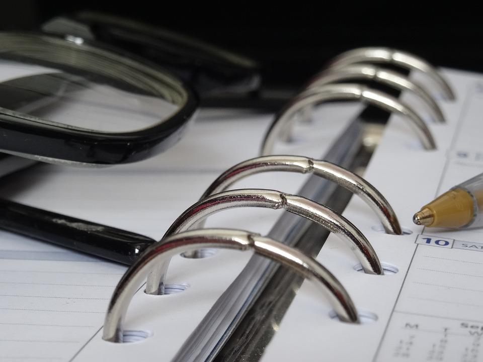 Planner, Glasses, Time Management, Notebook, Organizer